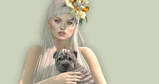 Avatar žena pes